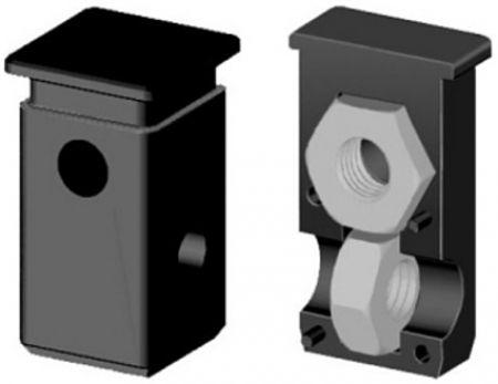 Schraubeckverbinder mit Bund - Gewinde M10 für 25mm Profil