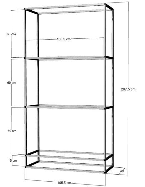 Regal für 3 St. 100x40x40cm Aquarien