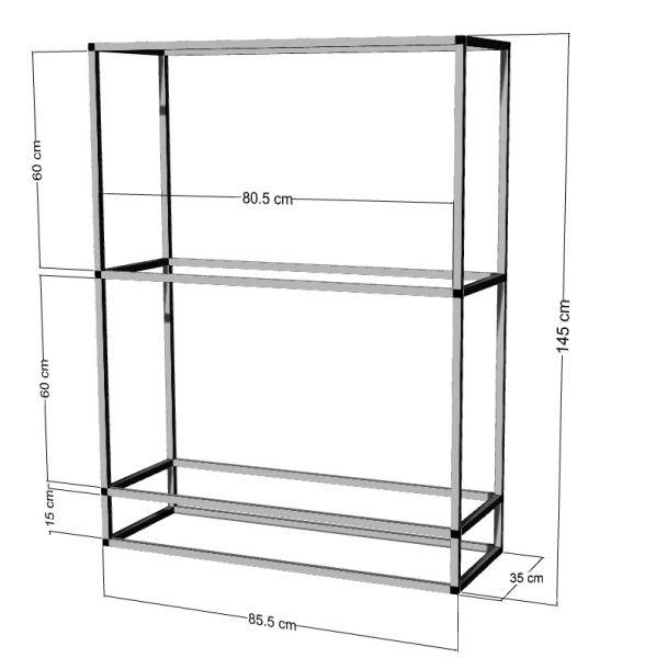 Regal für 2-3St. 80x35x40cm Aquarien