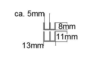 SET Schiebetürprofile 4mm - schwarz - oben/unten-Copy