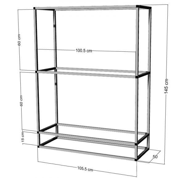 Regal für 2-3St. 100x50x40cm Aquarien