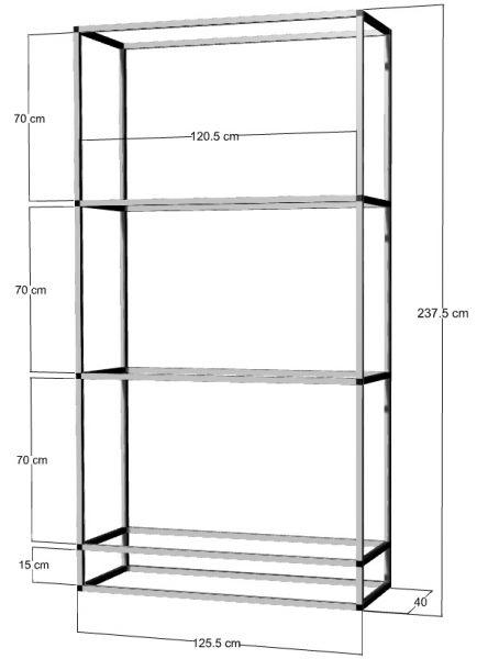 Regal für 3 St. 120x40x50cm Aquarien