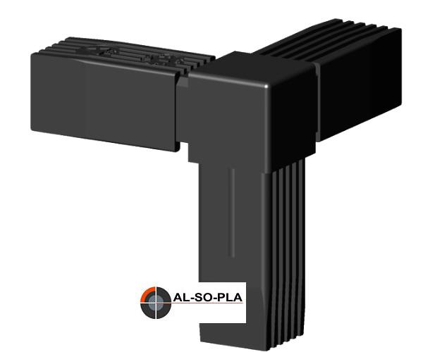 Steckverbinder schwarz 25x25x1,5mm Profile