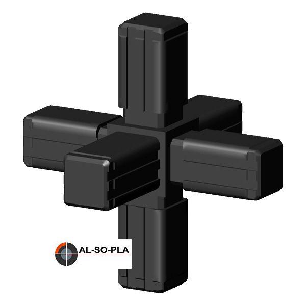 6er Verbinder - Stern - Kunststoff für 13,5mm Profil
