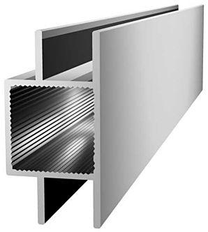 Aluminiumprofil 20x20x1,5mm mit Doppelsteg - Links/Rechts - Nut 10mm