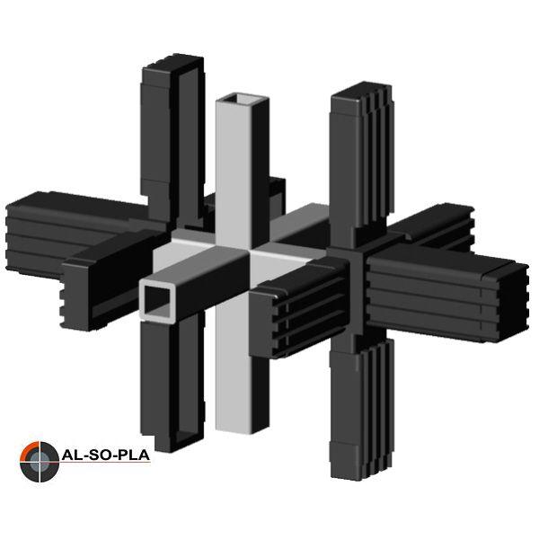 6er Verbinder - Stern für 20mm Profil