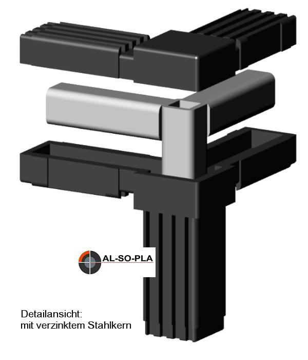 Steckverbinder für 20x20x1,5mm Profil