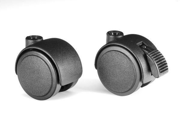 1 Lenkrolle Ø 50 mm mit M10 für Hartböden