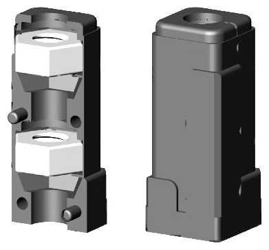 Rohranschluss mit Gewinde M10 für 25mm Profil - ohne Bund