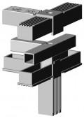 Stahlkern mit M10 für 25 + 30mm  Profile