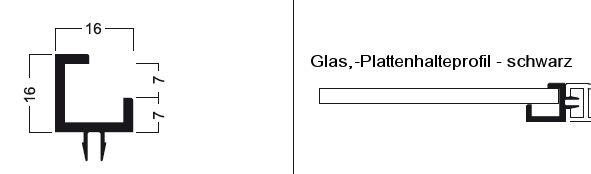Glashalteprofil