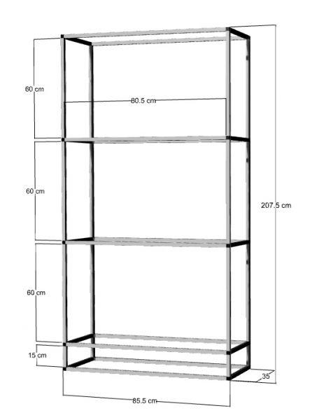 Regal für 3-4St. 80x35x40cm Aquarien