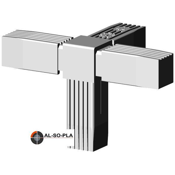 4er Verbinder für 25mm Profil - Kunststoff - grau