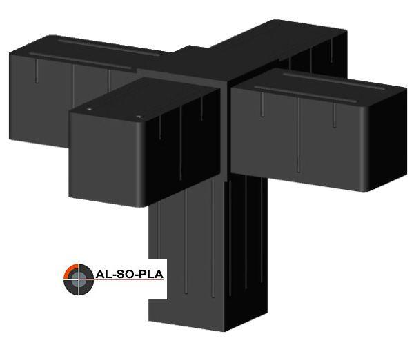 5er Verbinder für 20mm Profil - Kunststoff - Glasfaserverstärkt