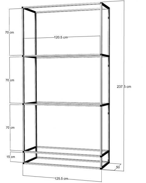 Regal für 3 St. 120x50x50cm Aquarien