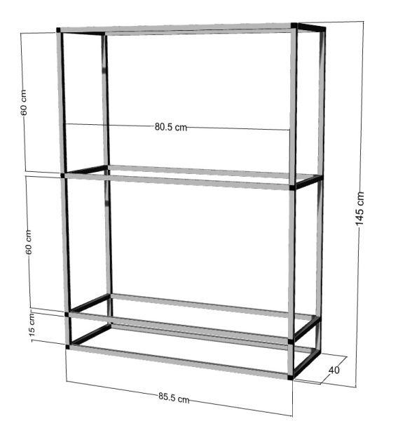 Regal für 2-3St. 80x40x40cm Aquarien
