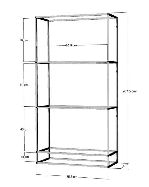 Regal für 3-4St. 80x40x40cm Aquarien
