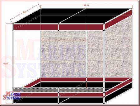 Terrarium m. 20cm Sockel 250x100x220cm