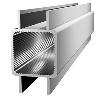 Aluminiumprofil 25x25x1,5mm mit Doppelsteg - Links/Rechts - (Nut