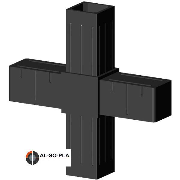 Kreuzverbinder Glasfaserverstärkt für 20mm Profilrohr