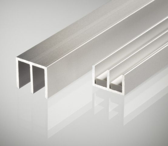 Schiebetürprofil 4mm - Aluminium OBEN