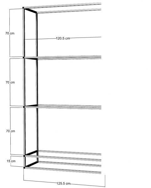 Anbauregal für 3 St. 120x50x50cm Aquarien