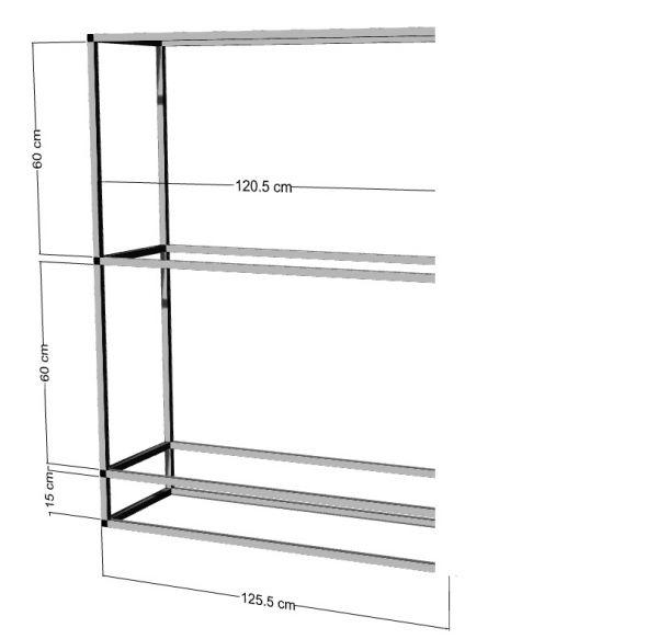 Anbauregal für 2-3St. 120x50x40cm Aquarien