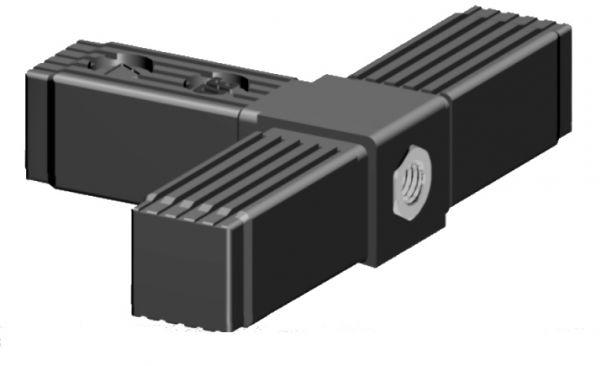 T-Stück mit M10 Gewinde - für 30x30x2mm Profilrohr