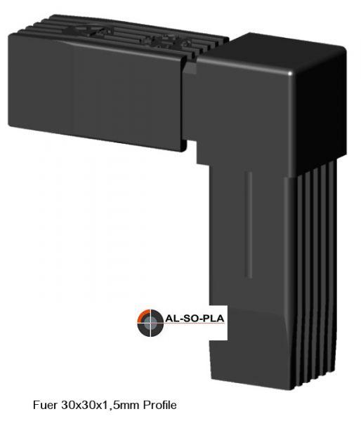 Winkel Verbinder für 30x30x1,5mm Profile