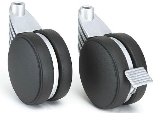 1 Lenkrolle Ø 50 mm mit M10 Gewindestift - ohne Feststeller