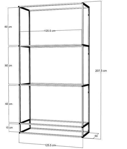 Regal für 3 St. 120x50x40cm Aquarien