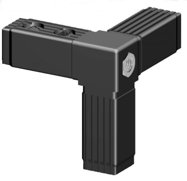 Ecke mit M10 Gewinde für 30x30x2mm Profilrohr