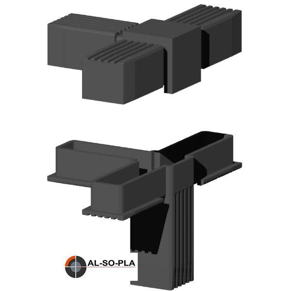 4er Verbinder für 30mm Profil - Kunststoff
